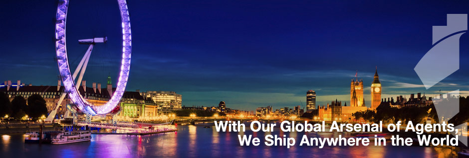 With Our Global Arsenal of Agents, We Ship Anywhere in the World